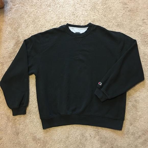 fd97869cb Champion Shirts | Vintage 90s Sleeve Logo Pullover Crewneck | Poshmark